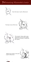 How I draw Miranda's hair tutorial by Art-Surgery