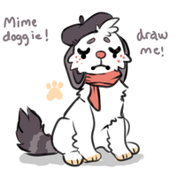 Mime Doggie draw to adopt ENDED by Smushey