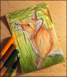 Fox ACEO by bladebandit
