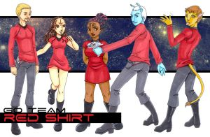 Team Red Shirt by Dreamwind