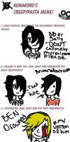 CreepyPasta meme thing by Sally-Faqbs