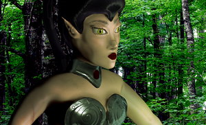 Elf lady close up by thedarkartistgirl