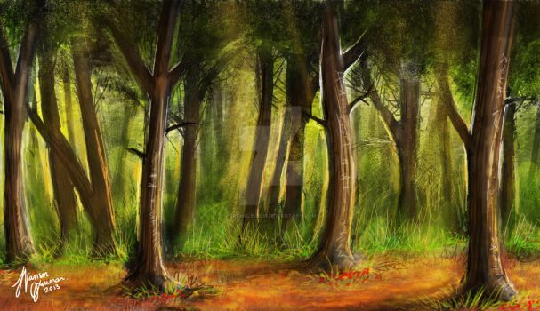 Autumn Forest by grumble-bum