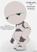 Marvin the Paranoid Android by CartoonJessie