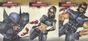 Marvel Masterpieces 2 X-Force2 by jasinmartin