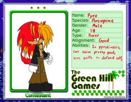 Pyro :The Green Hill Games: by sonamy43
