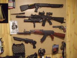 My airsoft arsenal by moose-lee
