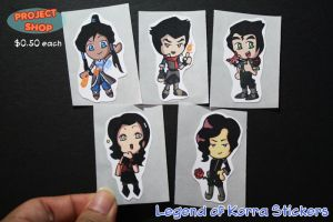 Korra Stickers by Saiya-STORY