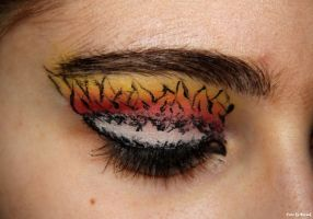 The Hunger Games- born of a mockingjay make-up. by EamyCross