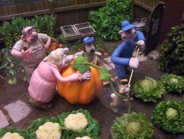 Garden Time With Wallace And Gromit by Shirley-Agnew-Art