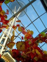 Glass House with Space Needle by Sing-Down-The-Moon