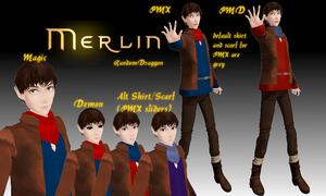 MMD Merlin (BBC) by RandomDraggon