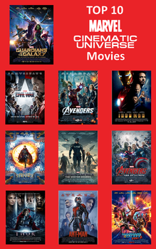Top 10 MCU Movies by FireMaster92