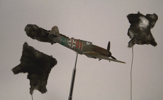 1/72 scale Bf109G-14 and FlaK by Nixod321