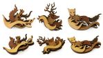 Woodland Brooches by mtomsky