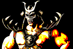 Shao Kahn pixel image by dylrocks95