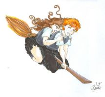 Ron and Hermione by GillyPerkyGoth