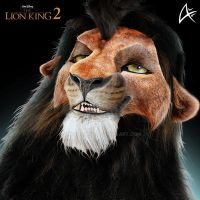 Adult Kovu Portrait (COMMISSION)- The lion king 2 by Andersiano