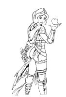 Darth Snow White lineart by JosephB222