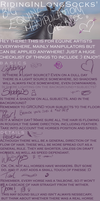 THE BIG EQUINE MANIPULATION/DRAWING CHECKLIST!! by RidingInLongSocks