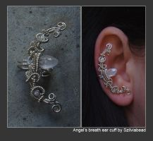 Angel's breath ear cuff by bodaszilvia