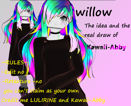 Willow Mmd Model this is for  Kawaii-Abby by LULIRINE