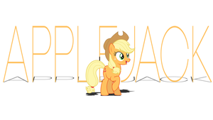 Applejack Text Wallpaper by RDbrony16
