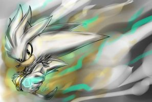 Silver the hedgehog by LeonS-7