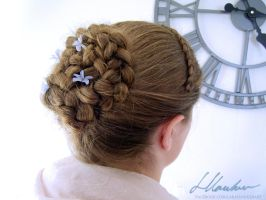 Frozen inspired hair by larahawker