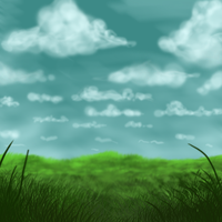 Grass and Sky PS Practise by intolart