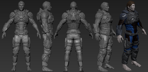 Sci Fi Police Soldier WIP (Edited) by eXecutex