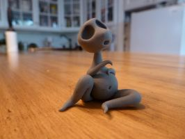 A Small, Forlorn, Gray Man by ACreepyLittleFriend