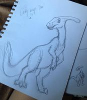 Rough Final for the Parasaurolophus by DianaArtimis