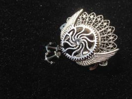 Silver Steampunk Clockwork Hair Barrette by CrossTheHatter