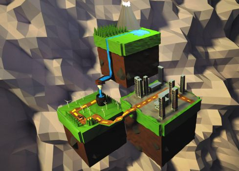 Floating Boxes (Cube land) by smartape