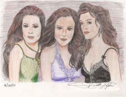 Charmed Ones in color by marslicious