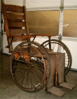 Antique Wheel Chair 3 by Falln-Stock