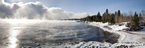Lake superior 25 below by DGAnder