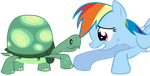 Rainbow Dash and Tank /)*(\ +Video! by Fehlung