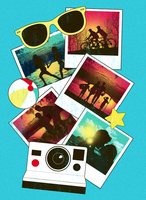 Summer Snapshots Tee Design by dandingeroz
