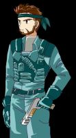 Solid Snake by TigerJ15