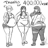 Thanks for 400K views by Dragon-Storm