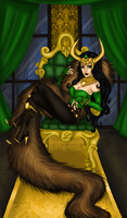 All Hail, Lady Loki by kotalee