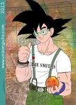 Commission 2015 Goku Hipster by electra-gretchen