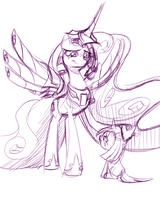 Twilight and the Pagemaster by MoonlitBrush