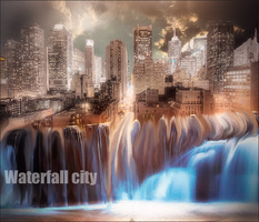 Waterfall city by met99
