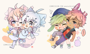 :C: princess carry | chibi ych complete by LabJusticaholic