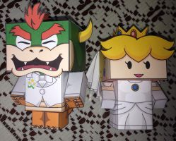 Bowser and peach wedding by SUSANAPC