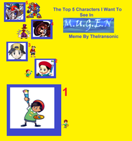 The 5 Characters i want for MUGEN by Greasiggy