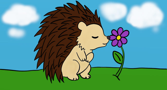 Hedgie Colored by BrannaPants